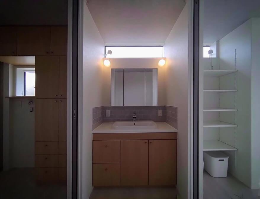 改寄町の住宅:脱衣|洗面|家事